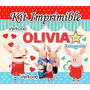 Kit Imprimible Olivia La Chanchita + Candy Bar Fiesta Pe