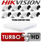 Kit 8 Camaras De Seguridad Hikvision Turbo Hd 720p P2p 2016
