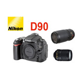 Camara Digital Profesional Nikon D90 12.3 Mp +2 Lentes+bag