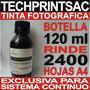 Botella Tinta Negra 120 Ml Black Fotografica Sistema Continu