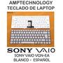 Teclado Laptop Sony Vaio Vpc-ea Vpc Ea Blanco Nuevo Español