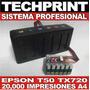 Sistema Continuo Pro T50 Tx720 Tx730 R290 Rx610 Fotografica