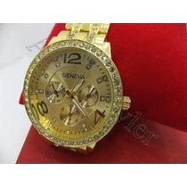 Aliferstyler Relojes Geneva Dorado Para Mujeres