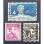 3 Estampillas Abraham Lincoln 4c Usa Us Postage Stamp segunda mano  Lima