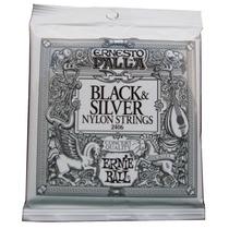 Ernie Ball 2406 Black&silver,cuerdasnylon Guitarra Concierto