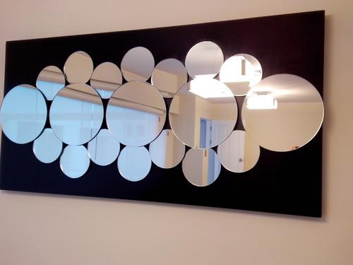 Espejos modernos 3d circulares s 550 sbeji precio d per for Espejos circulares pared