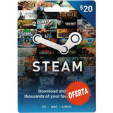 Steam Gift Card $20 En Pc Linux Mac Para Steam Valve Wallet