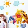 Sticker Decorativo Hogar Sala Niño Pared Winnie Pooh Y Otros