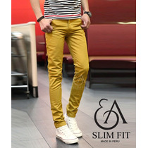 Ea Slim Fit - Pantalon Drill Strech Sanforizado C/reactivo
