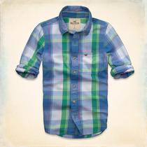 Camisa Hollister - Sarga Grandview - Escocés Talla M Y L