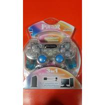 Mando Wireless Pure Color 3 En 1 P/ Ps2 ,ps1 Y Pc
