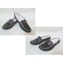 Zapatos Cuero Tipo Mocasín Con Talón Descubierto
