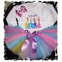 Disney Princess Princesas Tutu Tutus Vestido 3 Piezas Lindo