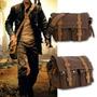 Messenger Bag Cuero Y Lona, Morral Casual Soy Legenda,...