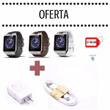Smart Watch Dz09 Reloj Celular+cargador 1 A Y Cable 1 Metro