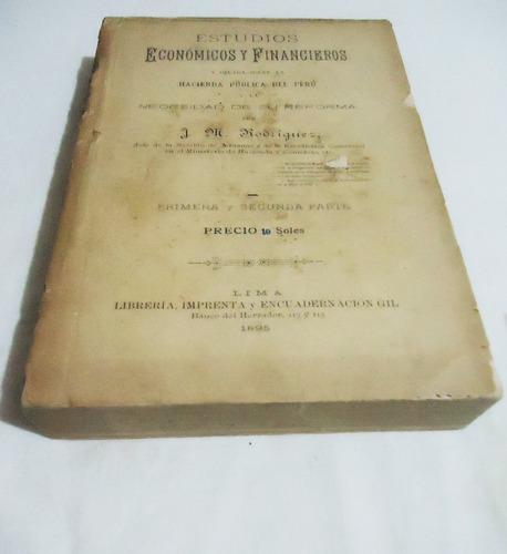 Libro antiguo estudios econ micos financieros hacienda - Libros antiguos valor ...