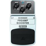 Preamplificador Booster Pb100 Pedal Behringer + Cable Shure.