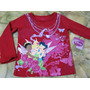 Polo Camiseta Tinkerbell Disney Princess Fairies Hadas