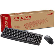 Teclado Genius Kb-06xe + Mouse Kb C100 Negro Ps2 [3133019610