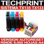 Nuevo Sistema Continuo Tx135 Tx133 Chip Version Autoreset