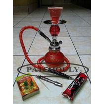 Narguila Hookah Shisha Pipa + Saborizante + Carbón + Pinza