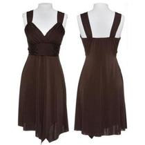Elegante Vestido De Fiesta Marron Oscuro