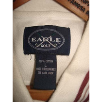 Polo Pique Eagle Golf 100% Original Crema Elegante Y Deporti
