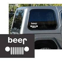 Stickers Jeep Beer Para Pegar Donde Desees!!