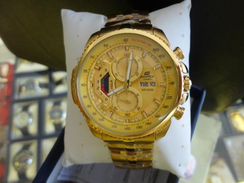 07fc99879e58 Reloj Casio Edifice Dorado Ef-558fg Original Sellado