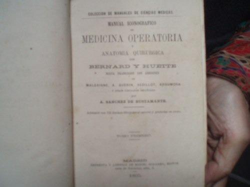Libro antiguo de medicina operatoria s 850 smrdc precio - Libros antiguos valor ...