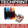 Sistema Continuo Profesional Tx420w Tx430w Tx320f + Tinta