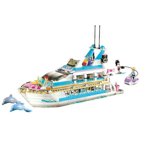 lego alterno friends pop star dolphin cruiser crucero delf n s 134 4 sakzt precio d per. Black Bedroom Furniture Sets. Home Design Ideas