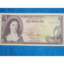 Billete De Dos Pesos Colombianos