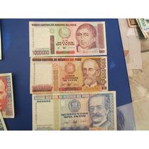 Coleccion De Billetes Intis -serie Completa En Buen Estado