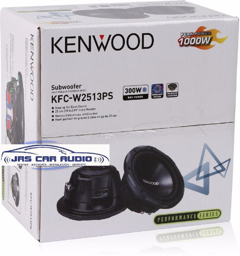 Subwoofer 10  Kenwood Kfc-w2513ps A S/.259.99 De 1000watts.!