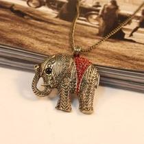 Lindo Collar De Elefantito Rojo Importado De Asia En Stock
