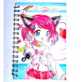 Cuaderno Anime Gato Otaku Navidad Regalo Amor Cosplay Niña