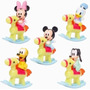 Set Disney Mickey Donald Minnie Pluto Tribilin Bebe Cabalgan