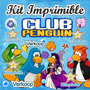 Kit Imprimible Club Penguin Candy Bar Invitaciones Fiesta
