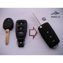 Carcasa Control Remoto Con Flip Para Hyundai Santa Fe Tucson