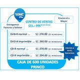 Dvd-r Princo 8x  Pack 50 Nuevo