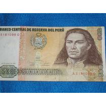 Billete De 500 Quinientos Intis Peru Billete Moneda
