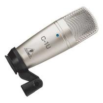 Micrófono C1u Condensador Behringer Usb Directo Pc Y Laptop