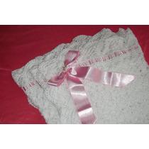 Linda Colchita 100% Algodon Tejida A Crochet Para Bebe