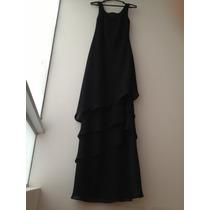Vestido Negro Largo De Fiesta Sin Mangas Talla M/l