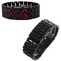 Reloj Negro Digital Led Rojo Estilo Samurai Unixes.pulsera