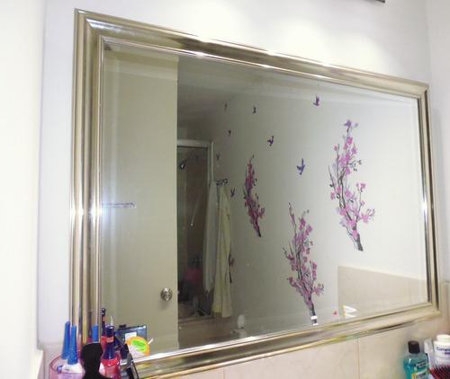 Espejo marco plateado de de largo 78 de ancho s 150 - Espejos marco plateado ...