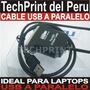 Cable Usb A Puerto Paralelo Impresora Lpt1 Epson Hp Canon