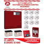 Kit Sistema Alarma Contra Incendio-central +sensores De Humo