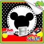 Kit Imprimible Mickey Mouse Diseño Tarjeta Cumpleaños Cd